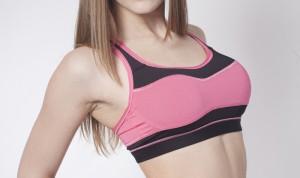 4ea42ee92 Woman in Sports Bra Following breast augmentation ...